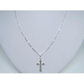 Corrente Cordão Masculino Prata 925+ Pingente Crucifixo
