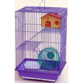 Gaiola Para Hamster 3 Andares Roda E Casa