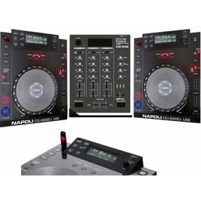 Kit Dj Cdj Player Mais Mixer Napoli Cdj 6000 Napoli 3600i