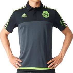 Playera Polo Seleccion De Mexico Hombre adidas Aa5531