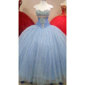 Imagenes de vestidos de 15 azul cielo