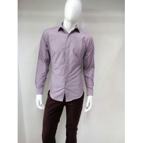 Camisa Para Caballero De Vestir Color Lavanda