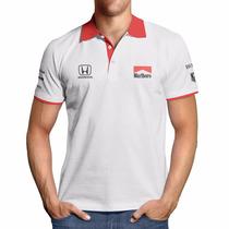 Camisa Polo F1 Retrô Mclaren Ayrton Senna