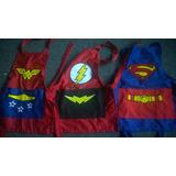 Mandiles Infantiles Batman Superman Flash Y Wonder Woman