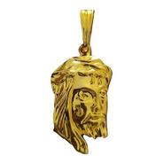 Pingente Face De Cristo Dourado + Nota Fiscal Ra003