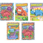 Paquete Libros Dinosaurios Para Colorear Iluminar Jumbo Niño