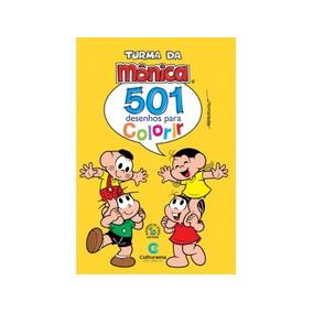 Livro Turma Da Mônica - 501 Desenhos Para Colorir - Culturam