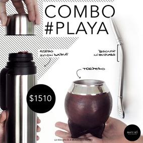 Mate Y Bombilla Uruguaya Combo Playa