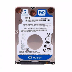 Hd Wd Sata 500gb 5400rpm Notebook Wd5000lpvx Slim 7mm