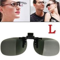 Clipon De Sobrepor S/óculos De Grau -uv400 -lente Maior