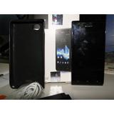 Sony Xperia J Smartphone Con Funda Negra