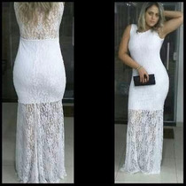 Vestido Longo Em Renda Casamento Madrinha Estilo Sereia