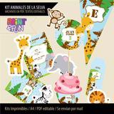 Kit Imprimible Animales De La Selva Etiquetas Golosinas