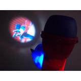 Micrófono Hombre Araña Proyecta Imágen Luz Música Juguete