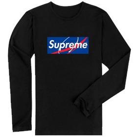c62ead63a Camisa Camiseta Personalizada Manga Longa Supreme Nasa
