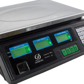 Balança Eletrônica Digital 40kg Bivolt Bateria Recarregável