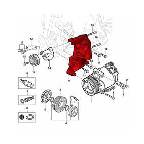 Suporte Compressor Arcondicionado Prisma 2009 A 2012