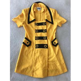 Vestido Mujer Enterito Amarillo Vintage Tipo Chanel