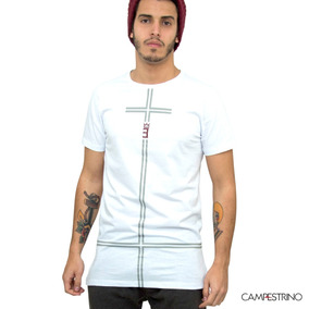 Camiseta Long Line Cross White/ Tam. P / Cor Branca