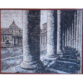 Quadro Mosaico Marmore Famoso Artista Italiano - Espetacular