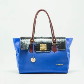 Bolso Combinado Azul