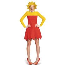 Los Simpson Mujeres Lisa Deluxe Disfraces De Halloween - Tam