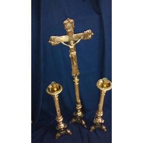 Candelabros De Altar Antiguos