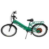 Bicicleta Elétrica Scooter Brasil Verde Com Bateria 12 Amp