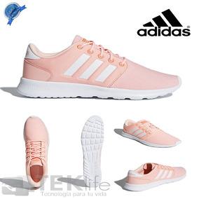 Tenis adidas Cloudfoam Qt Racer Mujer 100% Originales Coral