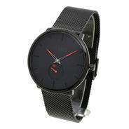 Reloj Feraud Hombre 5523 - Negro Malla Tejida Acero Wr30