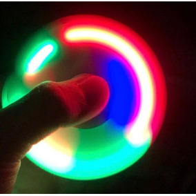 Fidget Hand Spinner Con Luces