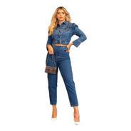 Calça Mom True Jeans Com Cinto