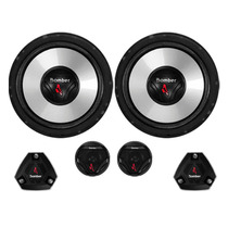 Kit 2 Vias 6 Pol Pesado Bomber Upgrade 200w Rms C/ Tweeter