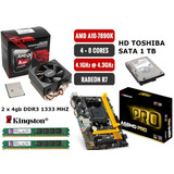 Kit Actualizacion Amd A10 7890 Radeon R7 + A68md +8gb + 1tb