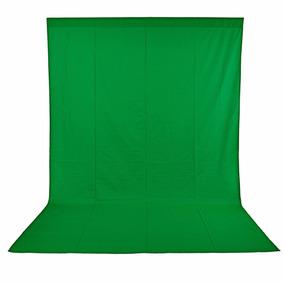 Fondo Telón Muselina 10x12 Ft 3x3.6 M Verde Ciclorama