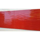 Ceramica Pared Española Acqua Roja Brillante 20x60 1° X Caja