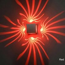 Luminária De Parede Led 3w 3 D Varias Cores