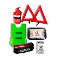 Kit Seguridad 6 En 1 Vehicular Auto Matafuego Econo Manta.