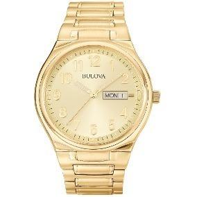 ed3937dd46c Relógio Bulova Masculino Dourado C  Números Wb21196g Nota