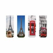 Marcador De Página Magnético Kit 4 Marcadores Londres Paris