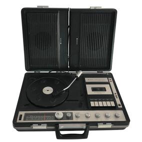 Antigo Toca Discos Vitrola 3 Em 1 Sanyo Portatil