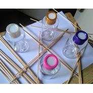 Envase Frasco Pet Cristal  Difusor Aromático  + Varillas X30