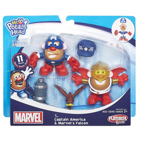 Señor Sr Cara De Papa Marvel X2 Capitan America Hasbro