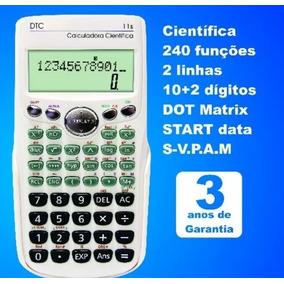 Calculadora Científica Dtc 11s Preta
