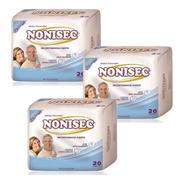 Apósito Para Incontinencia Fuerte Nonisec Pack 60un Con Gel