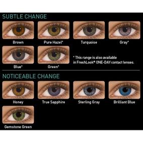 Pupilentes Freshlook Colorblends Naturales Originales
