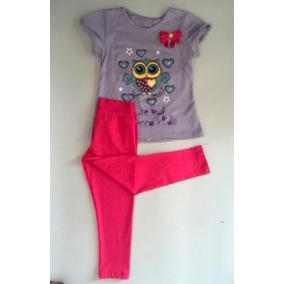 Conjunto De Niña Línea Infantil Leggins Pantalón Blusa Ropa
