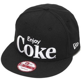 Boné New Era Aba Reta Snapback Coca-cola Enjoy Coke - Preto b77a94f92de