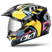 Capacete Moto Pro Tork Squad Vision Preto Com Viseira