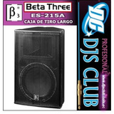 Caja Amplificada Beta Three Tiro Largo De Paquete Djs Club
